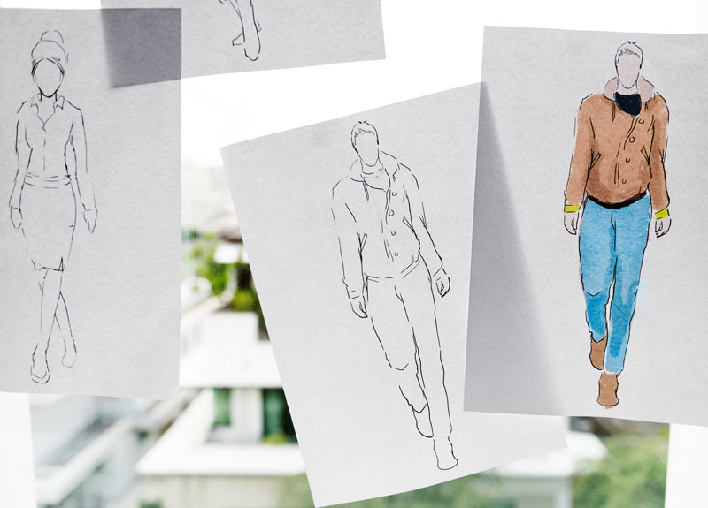Learn the basics of fashion illustration and visualise your ideas